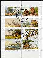 Nagaland 1972 African Wild Animals (Zebra, Giraffe, Crocs, Apes, etc) perf set of 8 values fine cto used