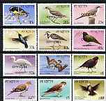 St Kitts 1981 Birds definitive perf set of 12 opt