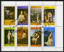 Nagaland 1972 Paintings of Nudes perf  set of 8 values fine cto used (2c to 80c), stamps on , stamps on  stamps on arts, stamps on  stamps on nudes