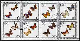 Iso - Sweden 1977 Butterflies perf  set of 8 values fine cto used (10 to 350)
