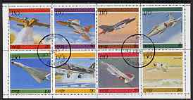 Iso - Sweden 1977 Jet Aircraft perf  set of 8 values fine cto used