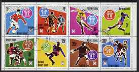 Bernera 1978 Football World Cup perf set of 8 values (1p to 30p) fine cto used