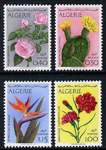Algeria 1973 Algerian Flowers set of 4 unmounted mint, SG 621-24