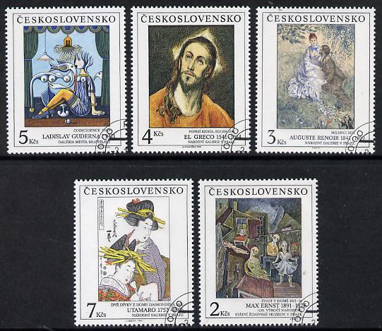 Czechoslovakia 1991 Art (26th issue) set of 5 fine cds used, SG 3077-81
