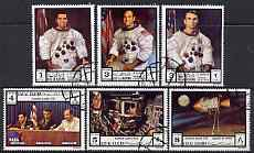 Ras Al Khaima 1972 Apollo 17 perf set of 6 fine cto used, Mi 840-45A*
