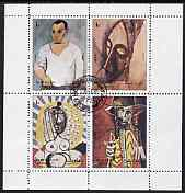 Sharjah 1972 Paintings by Picasso perf sheetlet containing set of 4 fine cto used, Mi 1316-19
