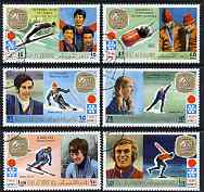 Ras Al Khaima 1972 Sapporo Winter Olympic Games - Gold Medallists perf set of 6 cto used, Mi 731-36*