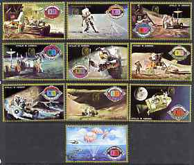 Umm Al Qiwain 1972 Apollo 15 perf set of 10 opt'd 400th Anniversary Kepler's Birth, cto used, Mi 575-84A*