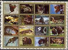Ajman 1972 Animals #1 perf set of 16 cto used, Mi 2829-44A