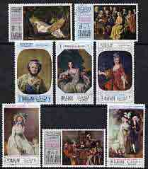 Sharjah 1968 Mothers Day paintings perf set of 8 cto used, Mi 426-33