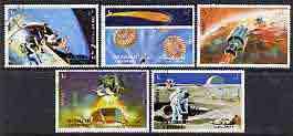 Sharjah 1972 Apollo 16 perf set of 5 fine cto used, Mi 982-86*