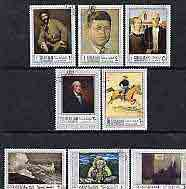 Sharjah 1968 American Artists perf set of 8 fine cto used, Mi 448-55*