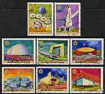 Ajman 1970 Expo 70 (Pavilions) perf set of 8 cto used, Mi 577-84*