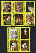 Manama 1972 Famous Paintings #2 perf set of 10 cto used, Mi 959A-I