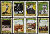 Ajman 1971 Munich Olympics perf set of 8 cto used, Mi 693-700A