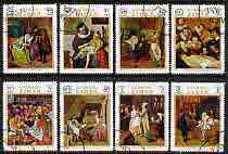 Ajman 1971 Paintings of Medical Subjects perf set of 8 cto used, Mi 710-17*