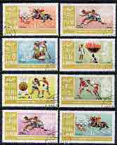 Ajman 1967 Mexico Olympics perf set of 8 cto used, Mi 189-96A