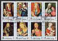 Ajman 1970 Christmas (Paintings by Durer) perf set of 8 cto used, Mi 645-52