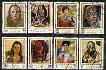 Ajman 1970 Portraits by Rutsch perf set of 8 cto used, Mi 702-709*