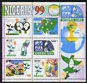 Nigeria 1999 World Youth Football Championship perf m/sheet unmounted mint, SG MS 741