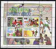 Nigeria 2000 Sydney Olympic Games perf m/sheet unmounted mint, SG MS 763
