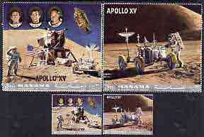 Manama 1972 Apollo 15 perf set of 4 cto used, Mi 1063-66A