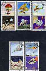 Fujeira 1971 Space Exploration & History of Flight perf set of 5 cto used Mi 622-26*
