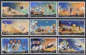 Ajman 1971 Apollo 15 perf set of 9 cto used, Mi 1254-62*