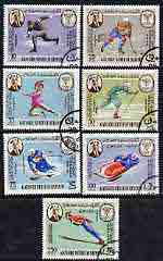 Aden - Kathiri 1967 Grenoble Winter Olympics perf set of 7 cto used Mi 134-40A*