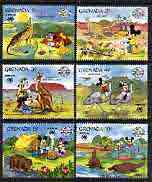 Grenada 1988 'Sydpex 88' & 60th Birthday of Mickey Mouse set to 10c only unmounted mint, SG 1821-26