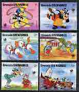 Grenada - Grenadines 1988 Olympic Games set to 10c only featuring Disney cartoon characters unmounted mint, SG 933-938