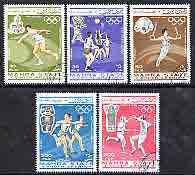 Aden - Mahra 1967 Mexico Olympics perf set of 5 cto used, Mi 25-29A*
