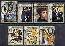 Aden - Kathiri 1967 Paintings by Degas perf set of 7 cto used, Mi 194-200*