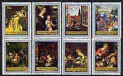 Fujeira 1972 Old Masters perf set of 8 cto used, Mi 1362-69*