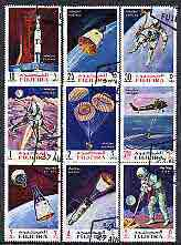 Fujeira 1969 Apollo Space Flights perf set of 9 cto used, Mi 390-98A*