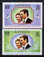 Antigua 1973 Royal Wedding perf set of 2 unmounted mint, SG 370-71