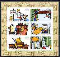 Benin 2004 Winnie the Pooh imperf sheetlet containing set of 6 values cto used