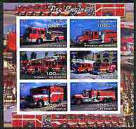 Somalia 2004 Fire Engines imperf sheetlet containing 6 values, fine cto used