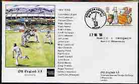 Great Britain 1998 Old England XI (v Neath CC) illustrated cover for Neath 150th Anniversary with special 'Cricket' cancel