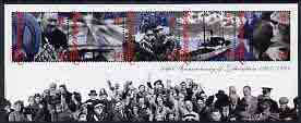 Guernsey 1995 50th Anniversary of Liberation perf m/sheet containing set of 5 unmounted mint, SG MS 671
