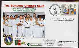 Great Britain 1999 illustrated cover for Bunbury CC v Phil Tufnell's World XI with special 'Cricket' cancel