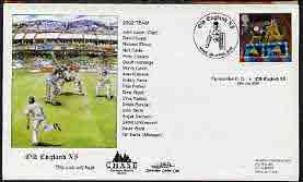 Great Britain 2002 illustrated cover for Farncombe CC v Old England XI with special 'Cricket' cancel