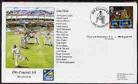 Great Britain 2002 illustrated cover for Streat & Westmeston CC v Old England XI with special 'Cricket' cancel