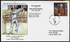 Great Britain 1997 illustrated cover for Peter May Inner Temple Match (The Judiciary v The Practitioners) with special