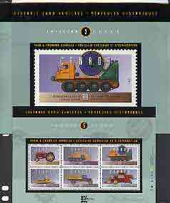 Canada 1995 Historic Automobiles (3rd series) perf m/sheet unmounted mint in presentation pack, SG MS 1638