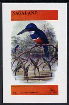 Nagaland 1974 Four-Coloured Kingfisher imperf souvenir sheet (2ch value) unmounted mint