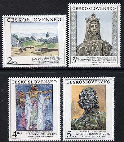 Czechoslovakia 1990 Art (25th issue) set of 4 unmounted mint, SG 3044-47