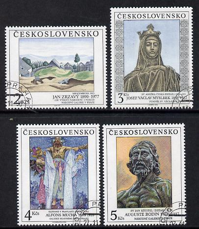Czechoslovakia 1990 Art (25th issue) set of 4 fine cds used, SG 3044-47