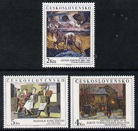 Czechoslovakia 1989 Art (24th issue) set of 3 unmounted mint, SG 3000-02