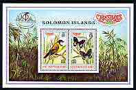 Solomon Islands 1997 Christmas & Bangkok '97 perf m/sheet containing 2 values unmounted mint, SG MS 902